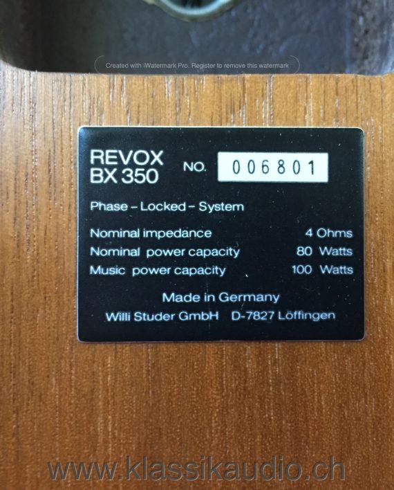 ReVox BX350 Lautsprecher