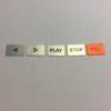 STUDER A807 Laufwerk Beschriftung Tasten